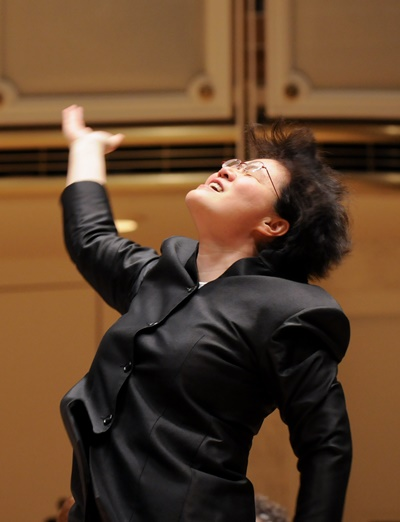 Mei-Ann Chen conducted snippets from Bizet's 'Carmen' suites to open the concert. (Chris Ocken Photography)