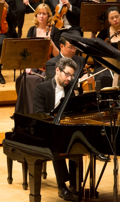 Pianist Jonathan Biss joined two members of the CSO in Beethoven's Triple Concerto. (Todd Rosenberg)