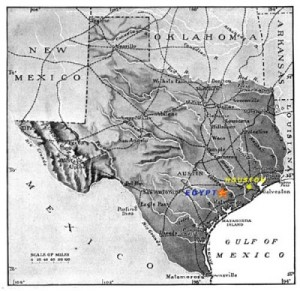 Egypt, Tex., is located southwest of Houston. (egypttexas.org)