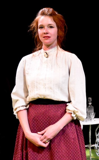 Married to a man who has disappointed her, Masha (Lindsey Gavel) lives a life of quiet despair. (Evan Hanover)