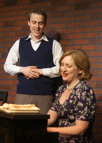 Rose Baum (Melonie Collmann) and her son Lee (Aaron Kirby) sing together at her beloved spinet. (Tommy Lee Johnston)
