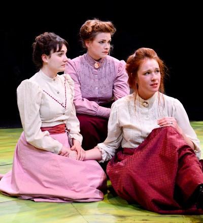 Portraying Chekhov's three sisters, from left, Hilary Williams as Irina, Mary Williamson as Olga, Lindsey Gavel as Masha. (Evan Hanover)