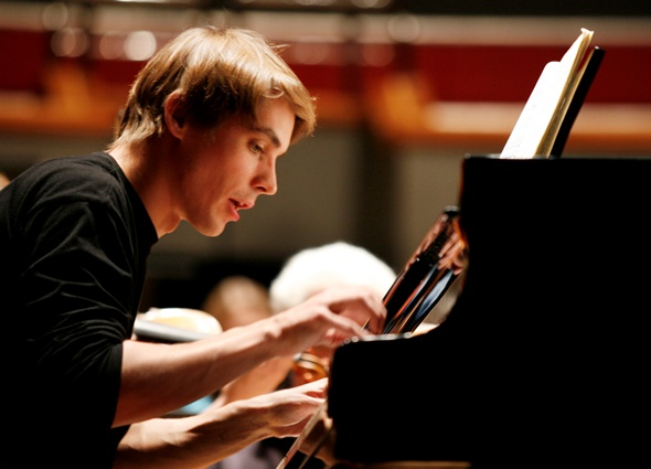Pianist Cédric  Tiberghien made his Chicago debut in  a recital May 3 at Orchestra Hall.