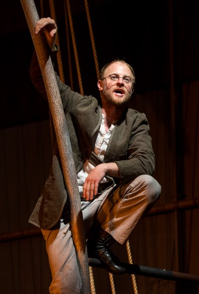Ishmael (Jamie Abelson), sole survivor of the Pequod, recalls the mad adventure. (Liz Lauren)