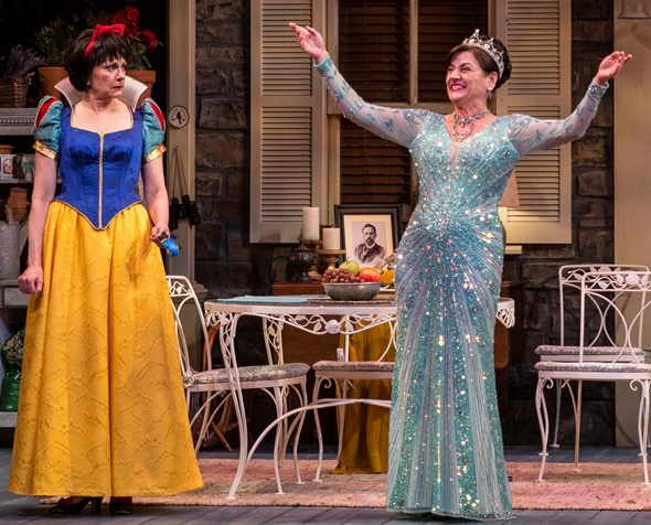 Sonia (Janet Ulrich Brooks) was the queen of the costsume party, whereas Masha (Mary Beth Fisher) got snowed. (Liz Lauren)