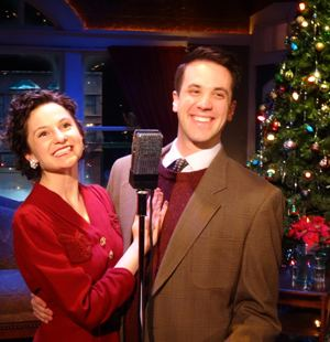 Amanda Tanguay (as Mary Bailey) and Zach Kenney (George Bailey) co-star in 'It's a Wonderful Life' at ABT. (Jaclyn Holsey)