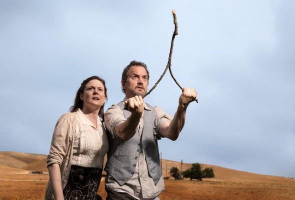 Linsey Page Morton and Steve Key star in 'The Rainmaker' at American Blues Theater. (Johnny Knight)
