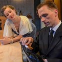 Maggie Scrantom and John Henry Roberts practice a dangerous flirtation in 'After Miss Julie' at Strawdog. (Chris Ocken)