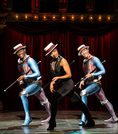 Sasha Allen, center, fronts a dance routine in 'Pippin' at the Cadillac Palace. (Terry Shapiro)