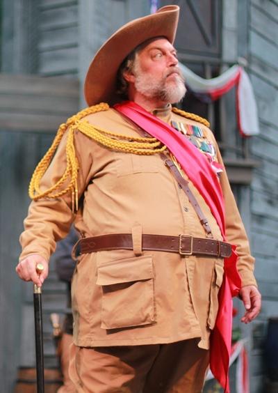 Sir John Falstaff (Brian Mani) cuts a rotund – he would add gallant – form. (Liz Lauren)