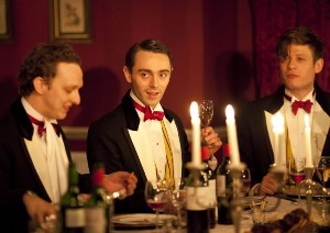 Elite boys behave very, very badly in 'Posh,' by Laura Wade. Photo from original 2010 production at the Royal Court Theatre in London.