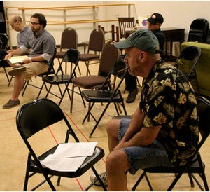 'Funnyman' playwright Bruce Graham attends a rehearsal at Northlight. This is his fourth premiere with the company.