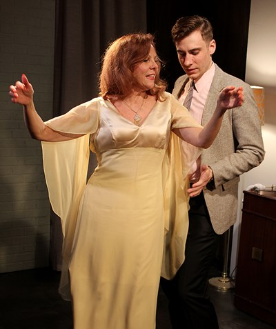 Martha (Jacqueline Grandt) wants to dance, but Nick (Stephen Cefalu, Jr.) isn't sure where to hold on. (Jan Ellen Graves)