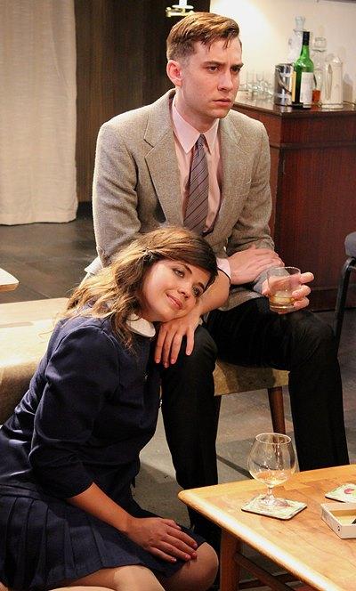 Honey (Elizabeth Argus) and Nick (Stephen Cefalu, Jr.) have waded into deep water. (Jan Ellen Graves)