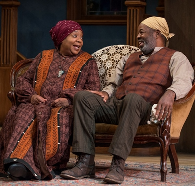 There's a bit of spark between Aunt Ester (Jacqueline Williams) and Solly Two Kings (Alfred H. Wilson). (Michael Brosilow)