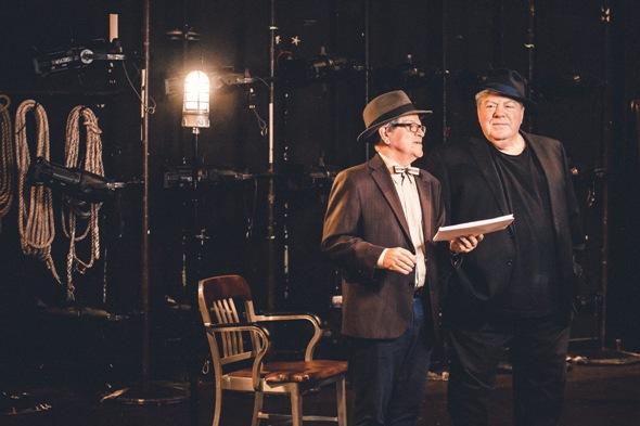 Tim Kazurinsky and George Wendt star in Bruce Graham's 'Funnyman,' about a fading vaudeville comic and his long-suffering agent. (Joe Mazza)