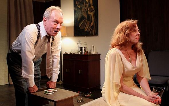 George (Brian Parry) fires a witty dart, but Martha (Jacqueline Grandt) is not amused. (Jan Ellen Graves)
