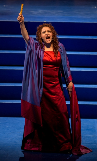 Abigaille (soprano Tatiana Serjan) swears revenge in 'Nabucco.' (Andrew Cioffi, Lyric Opera Chicago)