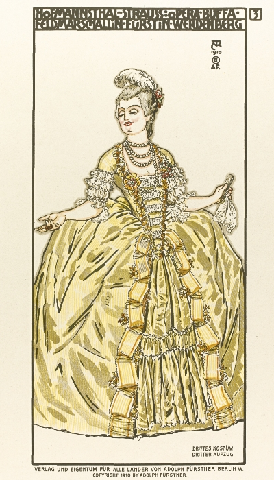A costume design by Alfred Roller for the 1911 Dresden world premiere. (Lyric Opera of Chicago)