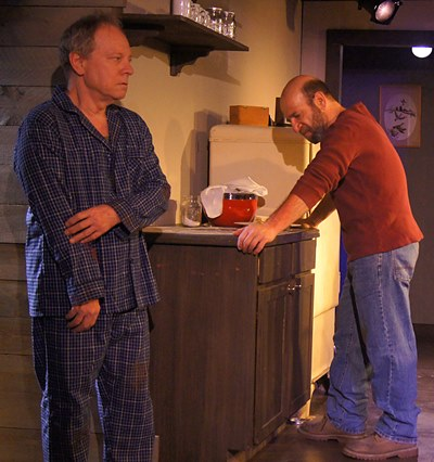 Morgan (Adam Bitterman, right) knows he must tell Angus (Brian Parry) the hard truth. (Jan Ellen Graves)