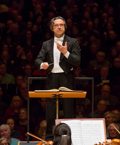 Riccardo Muti, on the podium at Carnegie Hall, leading the Chicago Symphony and Chorus, Feb. 1, 2015. (Todd Rosenberg)
