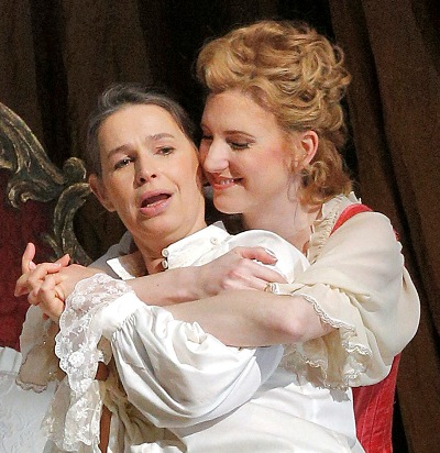 Sophie Koch and Amanda Majeski in 'Der Rosenkavalier.' (Cory Weaver)