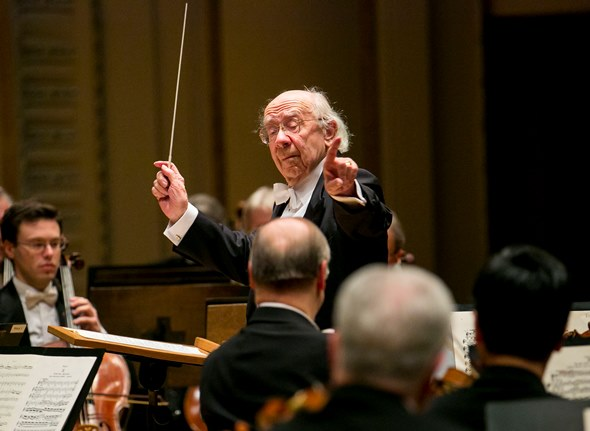 Russian conductor Gennady Rozhdestvensky led the CSO in place of Riccardo Muti. (Todd Rosenberg)