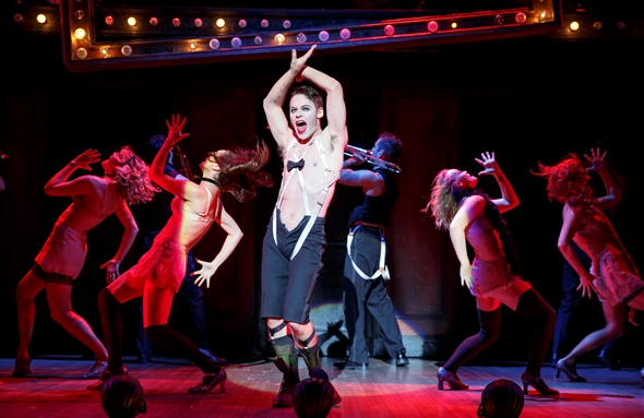 Randy Harrison is the Emcee in Roundabout's touring production of 'Cabaret.' (Joan Marcus)