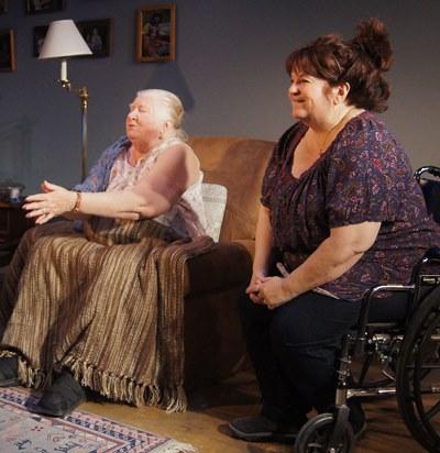 Emily (Kathleen Ruhl) and daughter Margaret (Debra Rodkin) watch 'Cat Ballou' again. (Jan Ellen Graves)