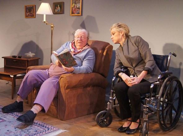 Emily (Kathleen Ruhl) shares a moment with her lawyer daughter Janet (KC Karen Hill.) (Jan Ellen Graves)