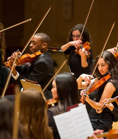 The Civic Orchestra of Chicago performed in support and in the spotlight. (Todd Rosenberg)