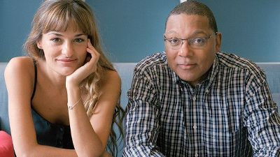 Violinist Nicola Benedetti with Wynton Marsalis, jazz artist and composer of a new violin concerto.