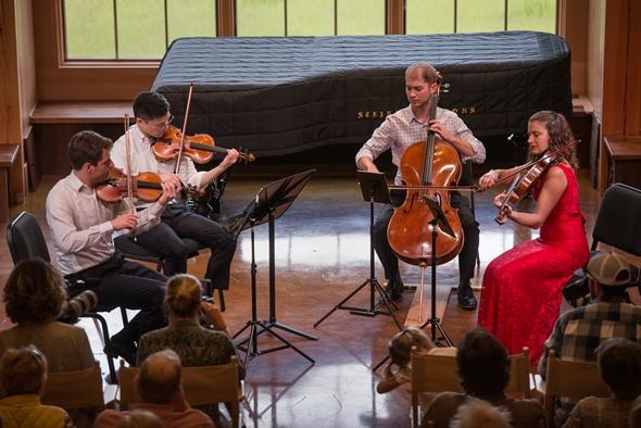 The Dover Quartet performed Beethoven's late quartet, Op. 132. (Erik Peterson)