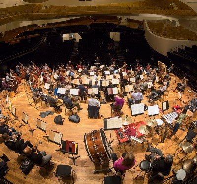 The CSO and conductor Riccardo Muti capitalized on their rehearsal time in the Philharmonie. (Todd Rosenberg)