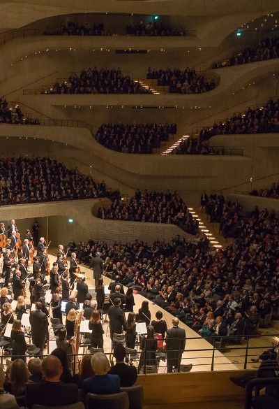 The Elbphilharmonie's convoluted seating scheme enhances its sonic complexity. (Todd Rosenberg)