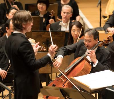 Esa-Pekka Salonen conducted his own Cello Concerto, with Yo-Yo Ma as soloist. (Todd Rosenberg)