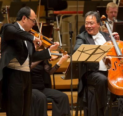 Robert Chen shared the limelight with cellist Yo-Yo Ma. (Todd Rosenberg)