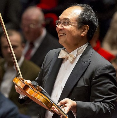 "Violinist Robert Chen: ""This is my family with me."" (Todd Rosenberg)"