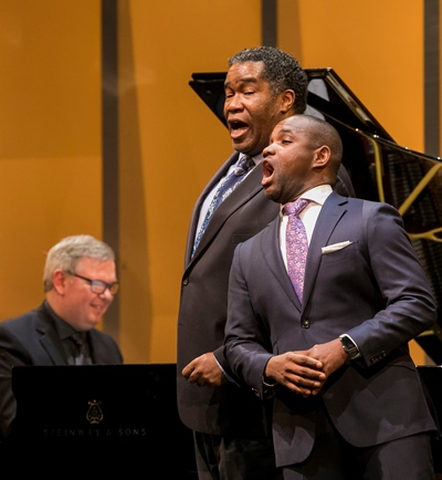 Pianist Craig Terry accompanied Eric Owens and Lawrence Brownlee. (Todd Rosenberg)