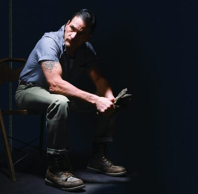 "James DeVita portrays the distraught Eddie Carbone in ""A View from the Bridge."" (Courtesy APT)"