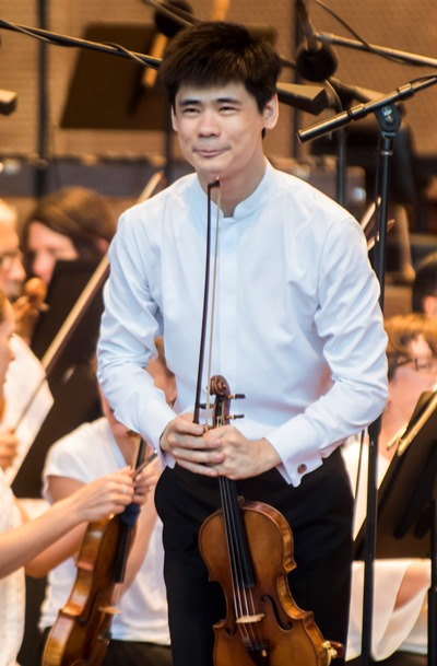 Concerto soloist Angelo Xiang Yu put on a virtuoso display. (Norman Timonera)