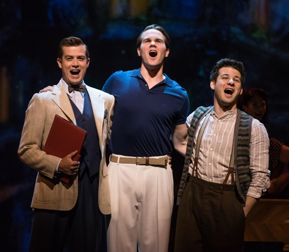 'S Wonderful they're in love; too bad they're in love with the same girl. From left: Nick Spangler as Henri, McGee Maddox as Jerry; Etai Benson as Adam in 'An American in Paris'. (Matthew Murphy)