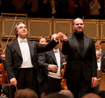 Riccardo Muti and Kirill Gerstein: beaming collaborators in Brahms. (Todd Rosenberg)