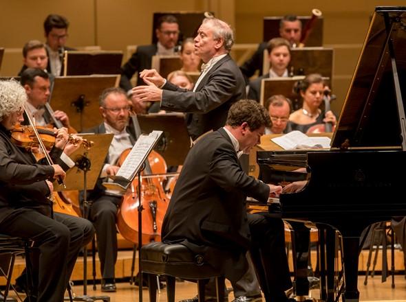 Denis Matsuev joined conductor Valery Gergiev in Prokofiev's Piano Concerto No. 2. (Todd Rosenberg)