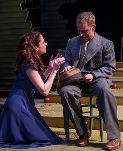 Annie (Heidi Kettenring) gets a strong dose of reality from brother George (Dan Waller). (Michael Brosilow)