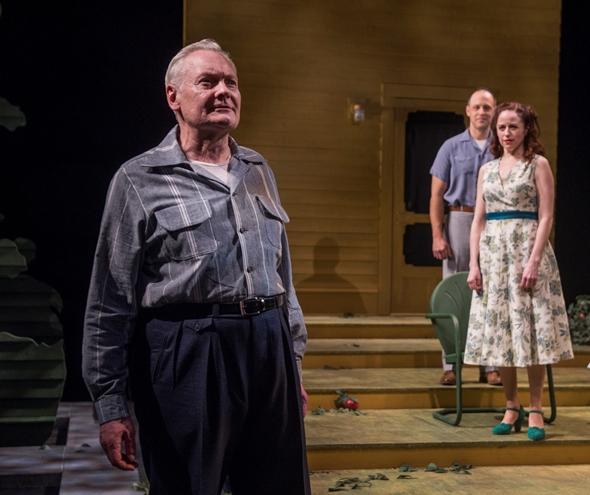 John Judd is patriarch Joe Keller, with Timothy Edward Kane and Heidi Kettenring as Chris and Annie. (Michael Brosilow photo)
