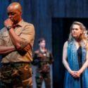 Michael Blake as Othello and Amelia Sargisson as Desdemona in Othello. Photography by David Hou.