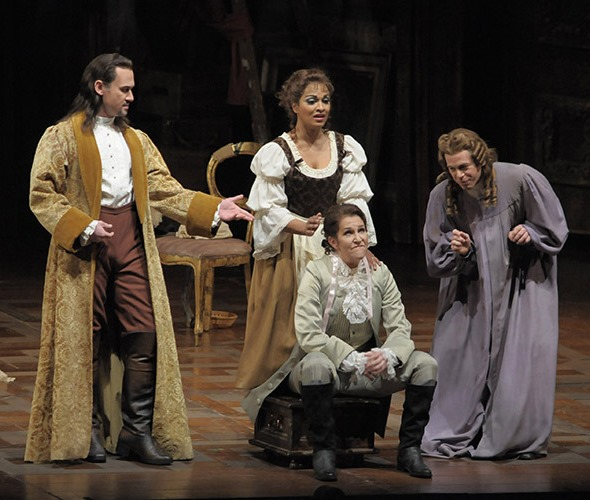 """That's Joyce DiDonato, as the boy Cherubino, in this 2009 production of Mozart's """"Marriage of Figaro. (Dan Rest)"""