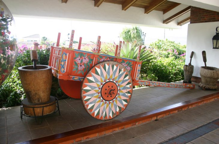 Oxcart, famous in Costa Rica to transport coffee from the Central Valley to the port cities for export
