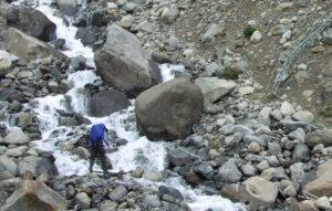 Third Quebrada crossing before bridge